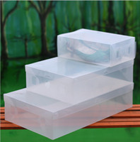 Wholesale Clear Shoe Storage Boxes Drawer - Wholesale-Transparent Child Lady Man Stackable Clear Plastic Shoe Storage Boxes Case Organizer,Drawer Storage Shoe Boxes 6 pcs  lot