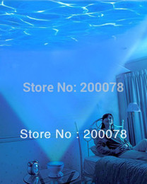 Wholesale Amazing Led Projection - Wholesale-Amazing Romantic Led Night Light Projector Ocean Daren Waves Projector Projection Lamp With Speaker + play with music