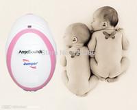 Wholesale Mini Doppler Fetal - Wholesale-HOT selling!! So Mini! CE &FDA Angelsounds Fetal Doppler Pocket ultrasound fetal heart monitor with earphone and USB cable