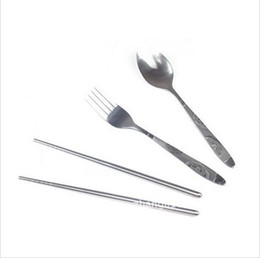 Wholesale Zipper Tableware - Wholesale-Free Shipping!Triangular Canvas Zipper Three-piece Cutlery The Portable Travel Cutlery Set Tableware Set Tableware Suit