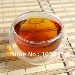 Wholesale Teacup Double Layer - Wholesale-Wholesale - Non-porous Double-layer Cup Insulated glass Teacup Cups 6 Piece   Lot