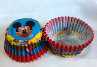 Wholesale X Mickey Mouse Baby Shower Christmas Wedding Cupcake Liners Decoration Mini Baking Paper Cup Muffin Case Wrapper