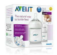 Wholesale Wholesale 4oz Glass Bottles - Wholesale-J.G Chen Original AVENT 2pcs lot Feeding Bottle   Baby Nursing Bottle 4oz 125ml Mamadeira Avent Baby Milk Bottle SCF690 27