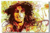 Wholesale Bob Marley Posters - Wholesale-Bob Marley BM Wall Silk Poster 48x32,36x24,18x12 inch Pop Music Giant Big Huge Bar Pub Prints Mural Legend Exodus Peace (014)