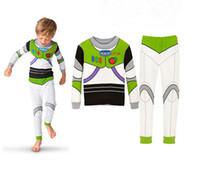 Wholesale Girls Tiger Sets - Wholesale-Retail Children New Long Sleeve Cartoon Tiger Buzz Lightyear Iron Man Pajamas Baby Girl Boys Sleepwear Kids pyjamas clothes sets