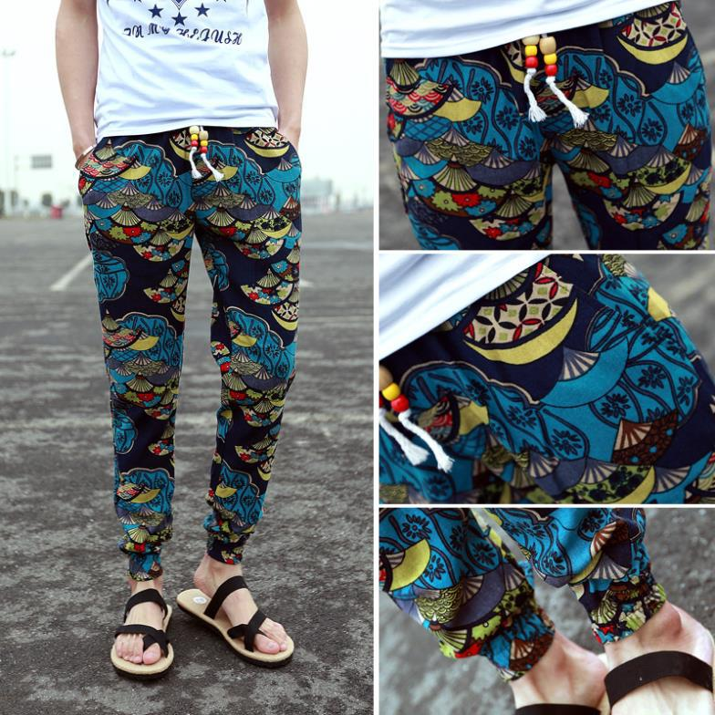 40 Wholesale New Mens Floral Print Pants Long Pants Joggers Casual Custom Mens Patterned Joggers