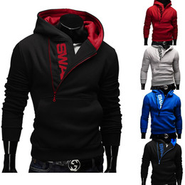 Wholesale Hoodie Styles Men - Wholesale- New Style Korean SWAG Hip-Hop Zip Up Hoody Sweatshirt Pullover Hoodie M-4XL