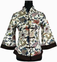 Wholesale Flower Suit Jacket - Wholesale-Hot Sale Multicolor Chinese Style Tang Suit Top Female Linen Jacket Flower Button Coat Plus Size S M L XL XXL XXXL 4XL 5XL 2218