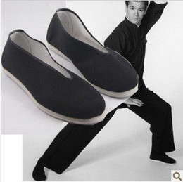 Wholesale Chinese Martial Arts - Wholesale-free shipping bruce lee vintage Chinese Shoes Martial Art Kung Fu Slippers PURE COTTON