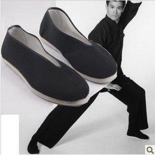Al por mayor-libre del envío bruce lee zapatos chinos de la vendimia arte marcial zapatillas Kung Fu PURE COTTON