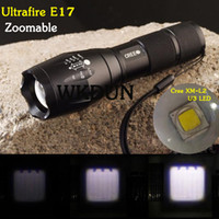 Wholesale Super Bright Cree Led Torch - Wholesale-Sole Sale Super Bright 2015 New UltraFire E17 Cree XM-L2 U3 2000LM 5 Mode Zoom in out Led Flashlight Torch (3*AAA 1*18650)