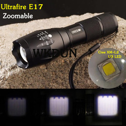 Wholesale Ultrafire Cree Led Flashlight - Wholesale-Sole Sale Super Bright 2015 New UltraFire E17 Cree XM-L2 U3 2000LM 5 Mode Zoom in out Led Flashlight Torch (3*AAA 1*18650)
