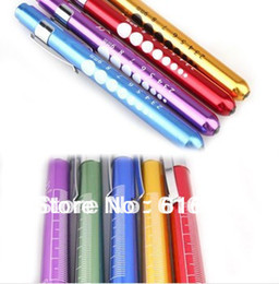 Wholesale Flashlight Medical - Wholesale-free shipping 5pcs aluminum alloy medical led pen light   Medical flashlight