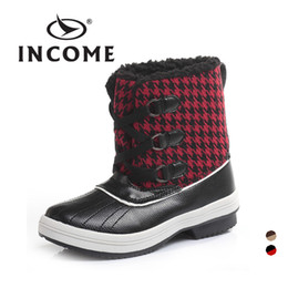Wholesale British Shoes Women - Wholesale-cotton women shoes classic Scotland British fashion plaid waterproof snow boots winter boots zapatillas mujer bota