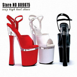 Wholesale Pole Dance Heels - Wholesale-Free Shipping HOT SALE 18cm Sexy High Heels Sandals Women 7 Inch Spool Heels Platform High-Heeled Shoes Pole Dancing Dance Shoes
