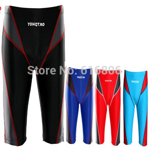 Wholesale-New Arrival Men Swimwear Swimming Long Pant Professional Competition Trunks Fastskin Racing s L-XXXL Plus Plus Size big