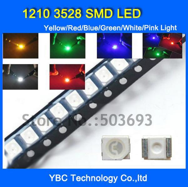 Wholesale-Free Shipping 1210 3528 SMD LED 6colorX40pcs=240pcs White/Blue/Red/Yellow/Green/RGB Light Diode Wholesale