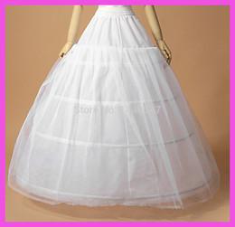 Wholesale Crinoline Skirts For Sale - Wholesale-2015 New Underskirt Hot Sale 3 Hoop Ball Gown Bone Full Crinoline Petticoats for Wedding Dress Skirt Accessories Slip In Stock
