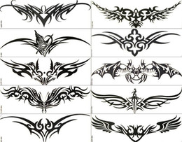 Wholesale Temporary Sticker Tattoo Designs - Wholesale-free shipping-Cool Temporary tattoo Waterproof body tattoo stickers mix,for men 12 designs 60pcs lots^03