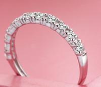 anéis de noivado roxos para mulheres venda por atacado-Atacado-Prata de Casamento 925 Anéis De Prata Esterlina para As Mulheres Roxo Vermelho Simulado de Diamante Anel de Noivado Estrela Jóias 20% de desconto Ulove J029