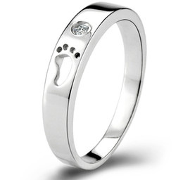 Chinese  Wholesale-60% off Silver Toe Rings for Women   Men 925 Sterling Silver Engagement ring Ring Love Crystal Jewelry Bague Aneis Ulove J013 manufacturers