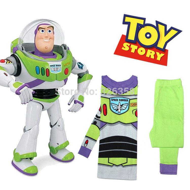 Wholesale Baby Boys Buzz Lightyear Pajamas Kids Toy Story