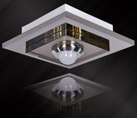 Modern square flush mount ceiling light - new square led ceiling Chandelier aisle corridor entrance foyer crystal lighting
