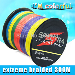 Wholesale Fish Braided - Wholesale-2015 High Recommend CHEAPEST SLEF BRAND Spectra braided 300M 10-100lb with 12colors fishing line for fluorocarbon electric reel