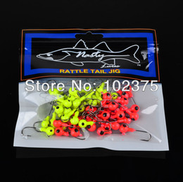 Wholesale Lead Jig Heads Wholesale - Wholesale-New best price Jig Big Hook Eye 200pcs 3.5G Fishing hook Mini LEAD ROUND HEAD FISHING LURE JIGS HOOKS free shipping