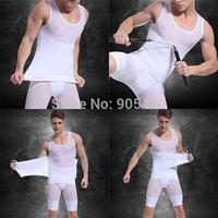 Wholesale Mens Body Shapers - Wholesale-Mens Body Shaper Tummy Girdle Corset Vest Shaperwear Underwear Men Shapers Compression Shirt Drop&Free Shipping