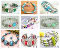 Wholesale Wholesale Fancy Jewellery - Fancy Jewellery Tibet 9pc Silver turquoise bracelet Chains
