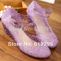 Wholesale Summer Breathable Jelly Shoes - Wholesale-Summer breathable crystal bling plastic jelly shoes cut out wedge heel bird nest mesh bird nest female wedge sandals NEW
