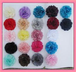 Satin Hair Clips Australia - Wholesale FahsionDual 3''satin mesh flowers with hair clip barrette hair pin drop shipping