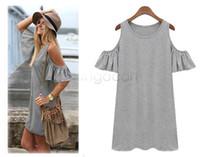 Wholesale Clothes Size 22 - Wholesale-Summer Dress 2015 Woman Clothes Butterfly Sleeve Cotton Cute Strapless Dress Plus Size Novelty T Shirt Dress 22
