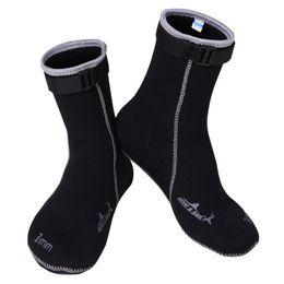 Wholesale Neoprene Dive - Wholesale-Brand 3MM Neoprene Scuba diving socks High elastic Snorkeling Boots Non-slip Keep warm Shoes Seaside Wetsuit Wet suits Men swim