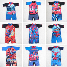 Wholesale Rash Guard Clothing - Wholesale-Kids boy rash guards swimming suit 2015 new design boys surf clothing kids swimwear beach wear retail one piece free shipping