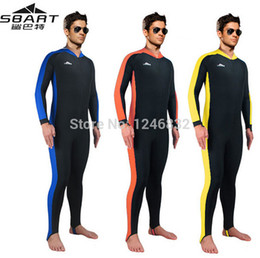 Wholesale Man Diving Suit - Wholesale-The best sales! Micofeel Retails Nylon Spandex UPF50+ 4XL Men wetsuit Jellyfish protect diving suit long surf Navy wet suit