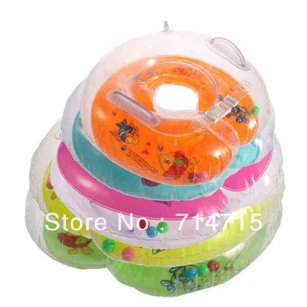 Wholesale-1 pcs Float Ring trottie Baby Aids Infant Safety Neck colour mixture Swimming Ring Free Shipping