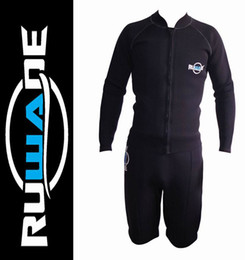 Wholesale Short Diving Suits - Wholesale-Free Shipping RUWADE 3mm neoprene wetsuit shorts or pants,3mm neoprene top long sleeve jackets,suit for diving and surfing