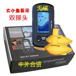 "Wholesale Matrix Fish Finder Sonar - Wholesale-waterproof Wireless Portable Dot Matrix Fish Finder Sonar Radio big 3"" LCD 40m range fishfinder russian menu bait boat"