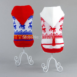 Wholesale Clothes For Chihuahuas Cheap - Wholesale-Free Shipping cheap dog clothes winter clothing for dogs wholesale pet sweater warm Christmas puppy dachshunds bulldog chihuahua