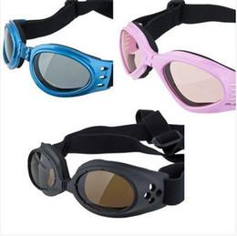 Wholesale Uv Coloured Sunglasses - Wholesale-Five Colours dog UV sunglasses Eye Wear Protection Pet Doggles Goggles Dog Sunglasses