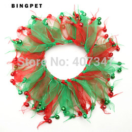 Wholesale Dog Products Christmas - Wholesale-Wholesale 12pcs lot Party Christmas Bells Dog Collar For Festival ChristmasFree Shipping