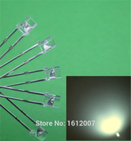 Wholesale led 3mm flat top - Wholesale-100 x LED 3MM Flat Top Wide Angle Warm White Urtal Bright Light Bulb Led Lamp F3MM Emitting Diodes Wholesale Components hot