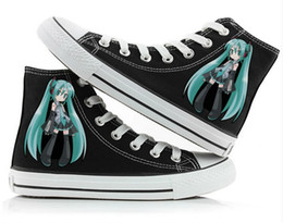 Wholesale Anime Canvas Shoes - Wholesale-Anime Hatsune Miku Cosplay Kuchiki Byakuya Canvas Shoes Sneakers