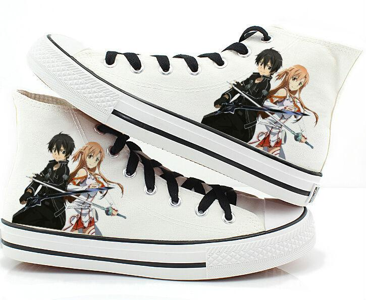 Sword Art Online Canvas Shoes Cosplay Shoes Sneakers White 1
