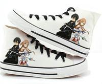 Wholesale Asuna Cosplay Shoes - Wholesale-Anime Sword Art Online Asuna Kirito Cosplay Kuchiki Byakuya Canvas Shoes Sneakers