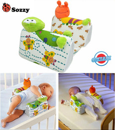 Wholesale Baby Sleeping Roll - Wholesale-Baby Pillow to Sleep Sozzy Anti - roll Sleep Positioner Fixed Newborn Toddler Adjustable Support System Nursing Travel Friends