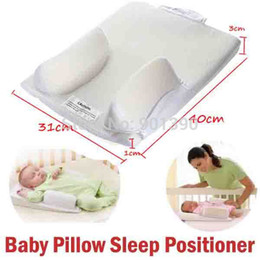Wholesale Support Pillow Baby Safe - Wholesale-Baby Care Infant Pillow Sleep Fixed System Waist Support Prevent Flat Head Safe Cotton Anti Roll Pillow Sleep Positioner