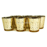 Wholesale Bowl Buy - Wholesale-New!Buy 2 lots 15% discount! Glass Gold Mercury Wedding Party Votive candle holder USD33.00 for 12pcs Each USD2.75